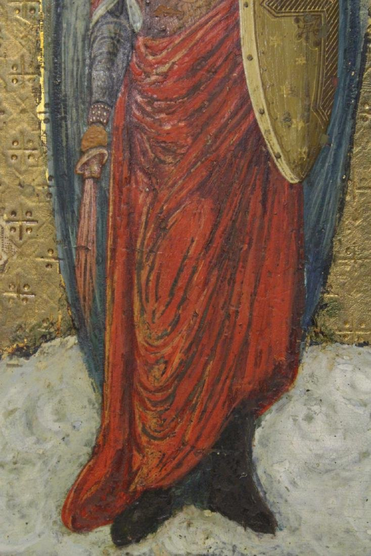 Antique Russian painting on wood icon - 8