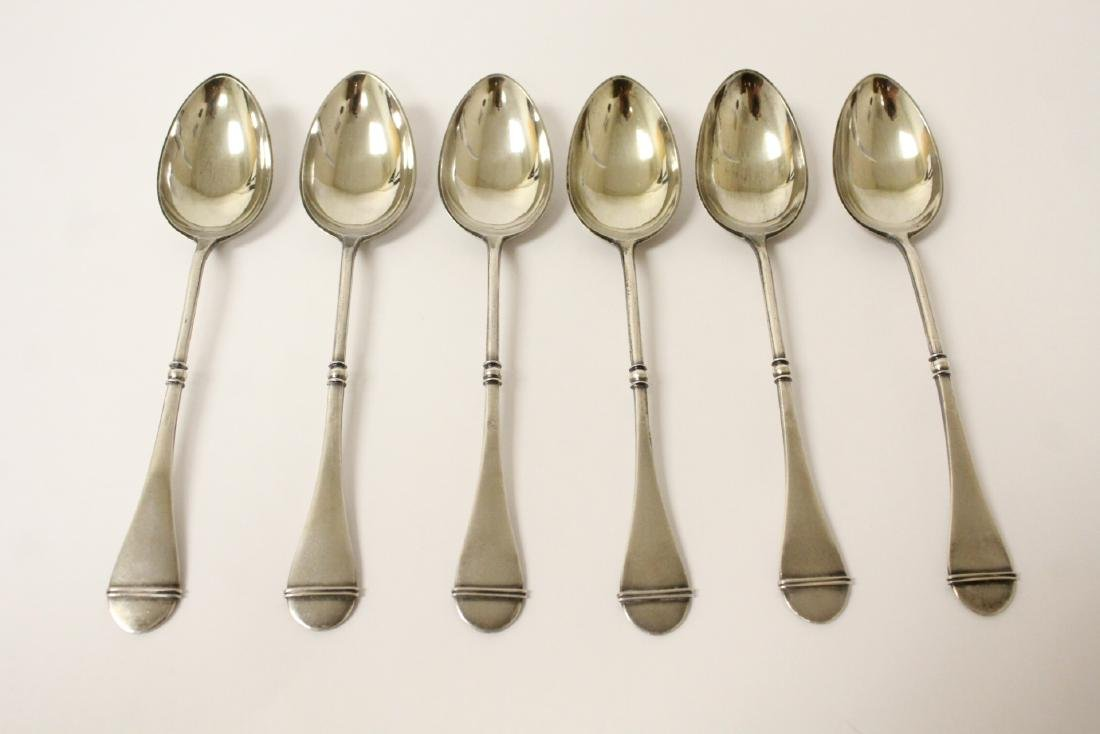 6 Russian 84 silver spoons