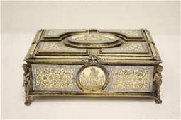 A beautiful antique Austrian enamel silver box