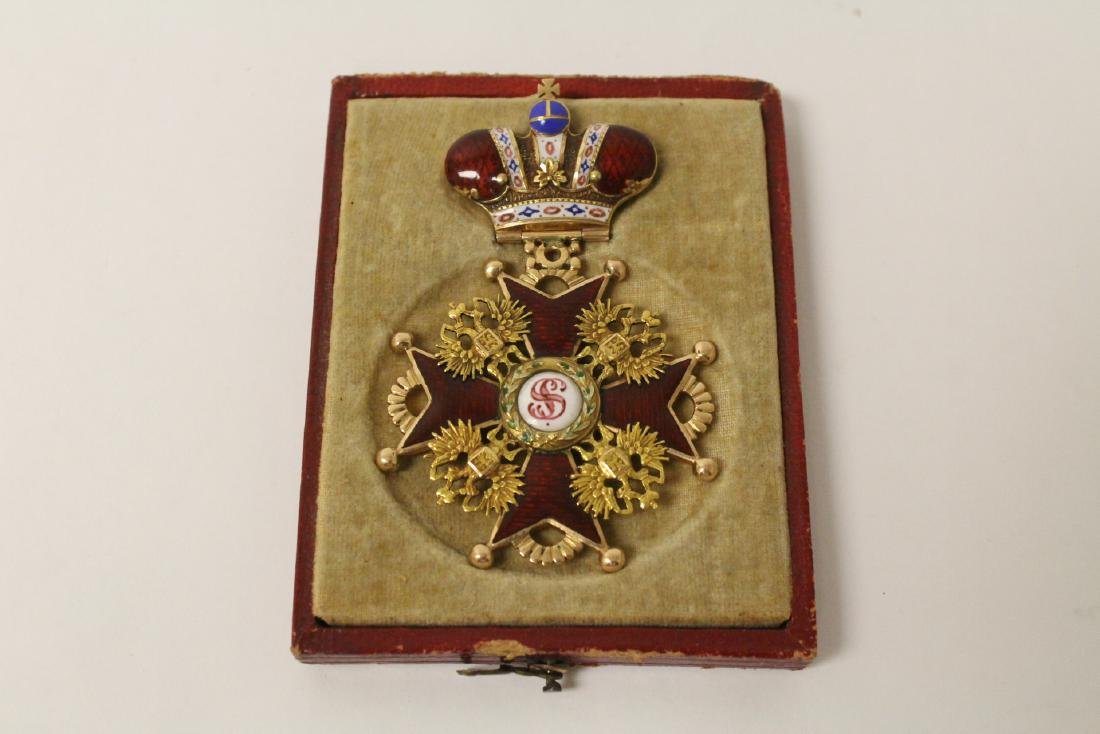 19th c. gold Russian imperial medal w/ original box - 2