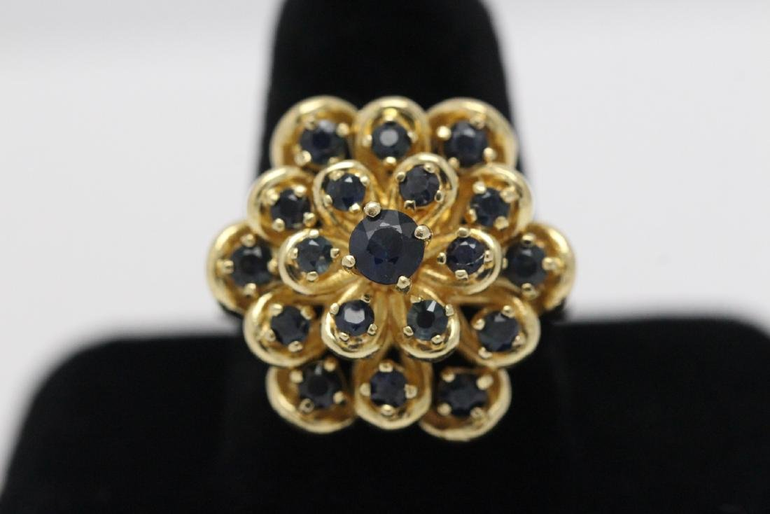 A 14K Y/G sapphire ring