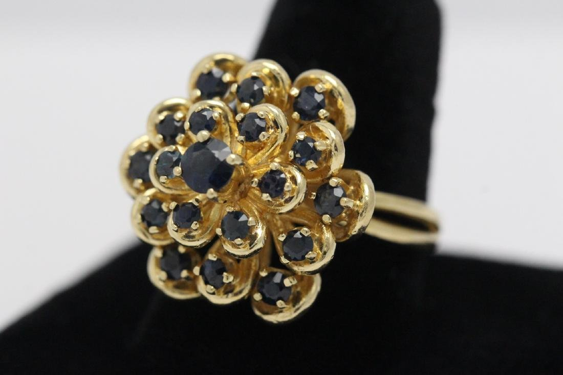 A 14K Y/G sapphire ring - 3