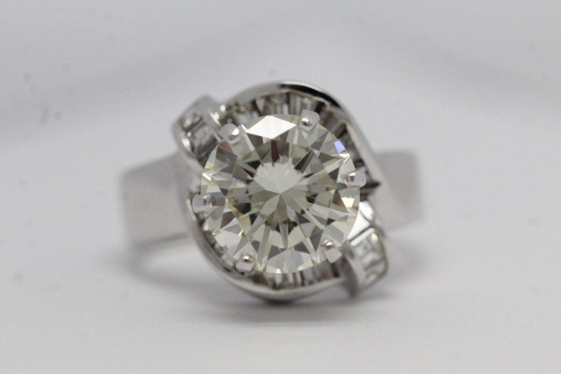 14K W/G 3.51ct solitaire diamond ring