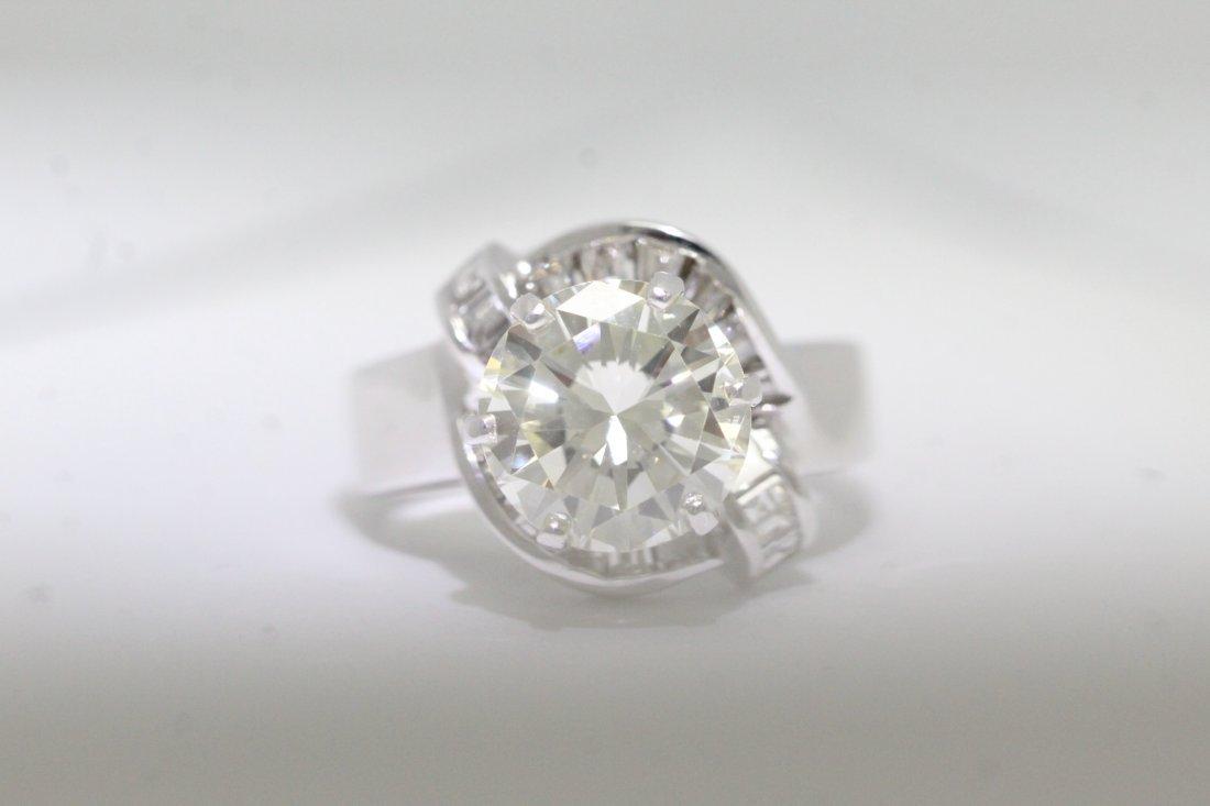 14K W/G 3.51ct solitaire diamond ring - 2