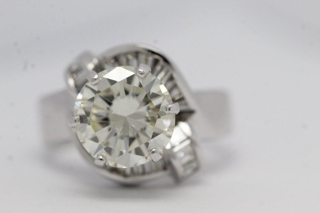 14K W/G 3.51ct solitaire diamond ring - 3