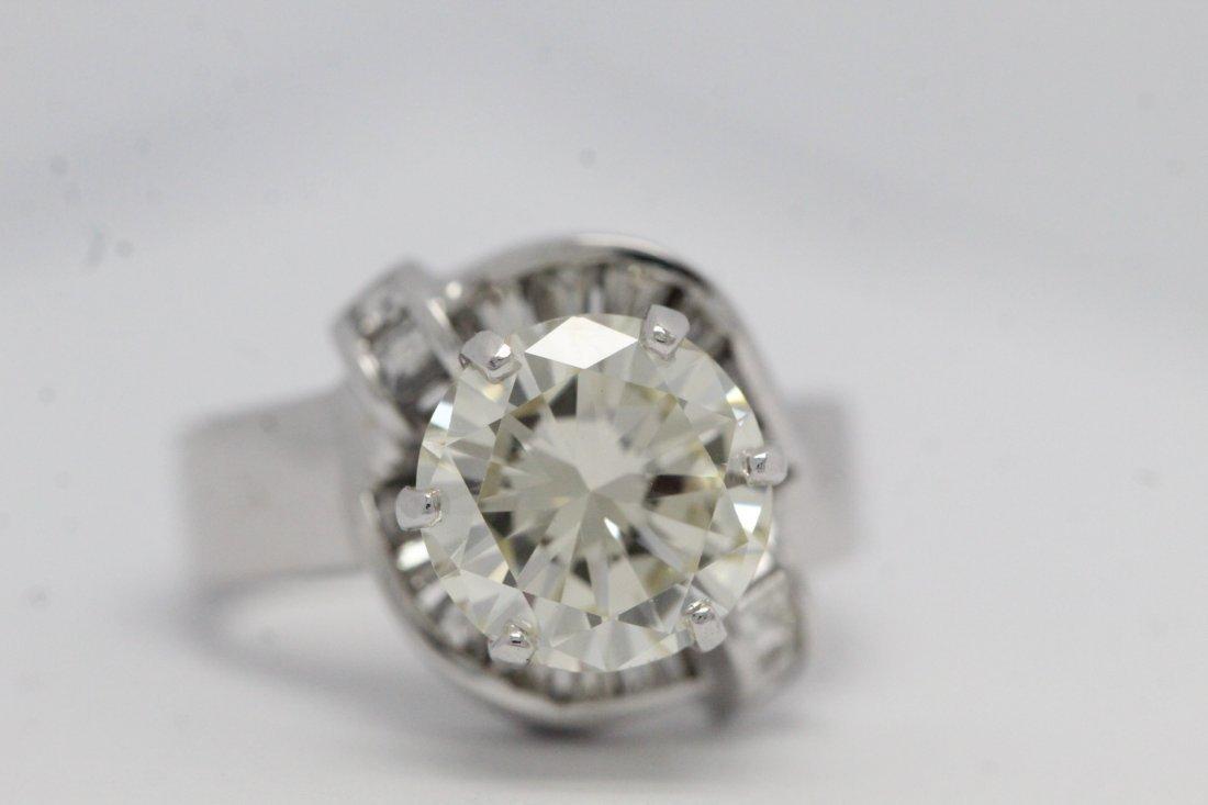 14K W/G 3.51ct solitaire diamond ring - 4