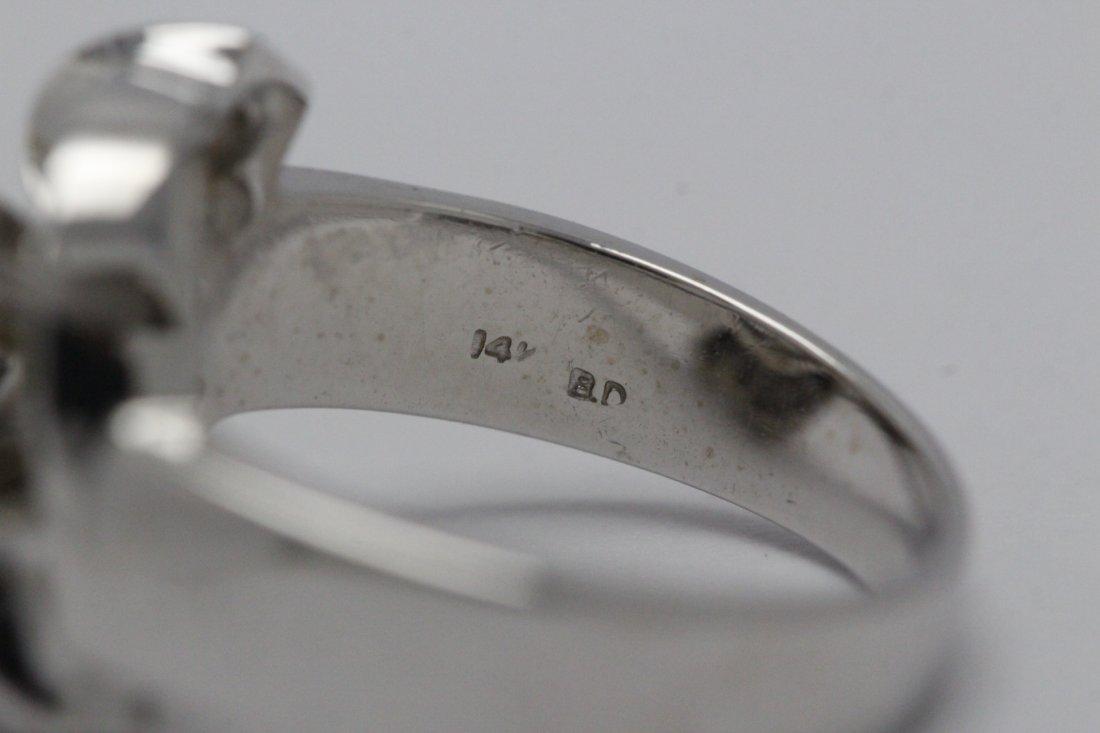 14K W/G 3.51ct solitaire diamond ring - 6