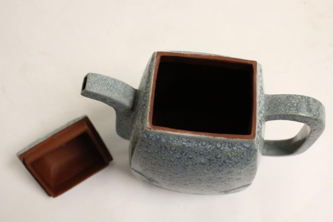An important Chinese vintage Yixing teapot - 6