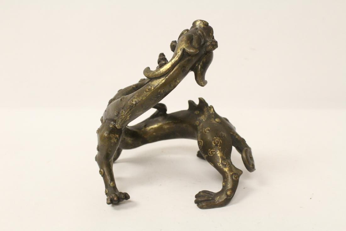 Chinese rare antique bronze sculpture - 2