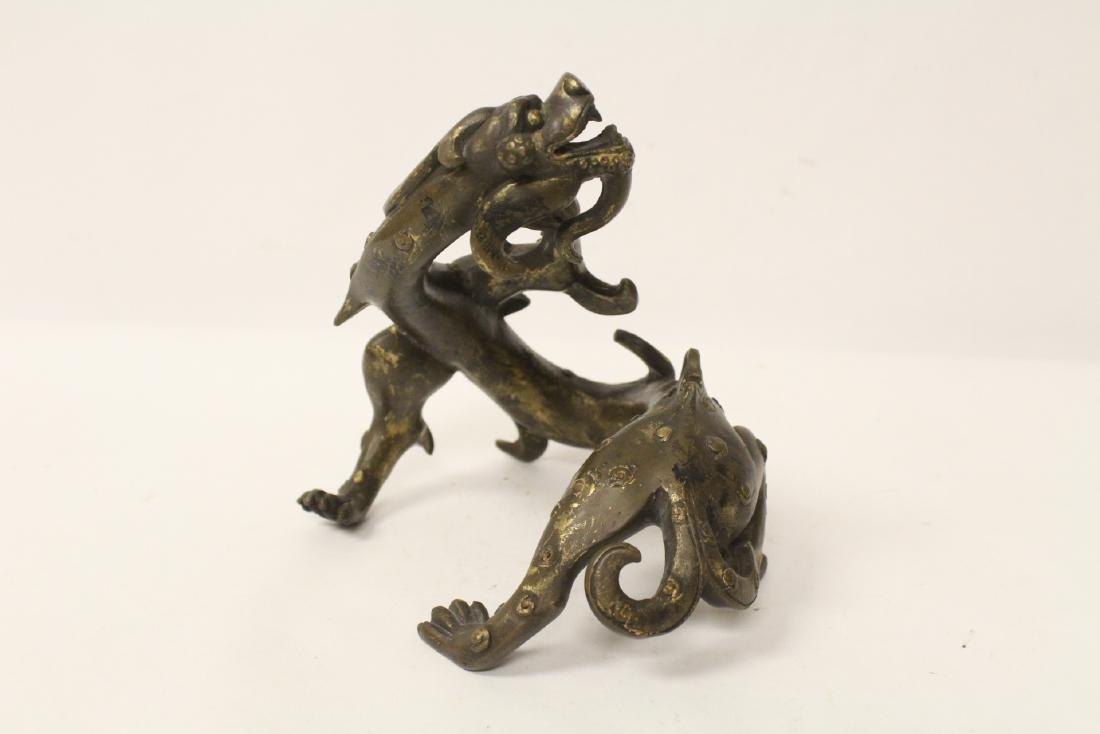 Chinese rare antique bronze sculpture - 3