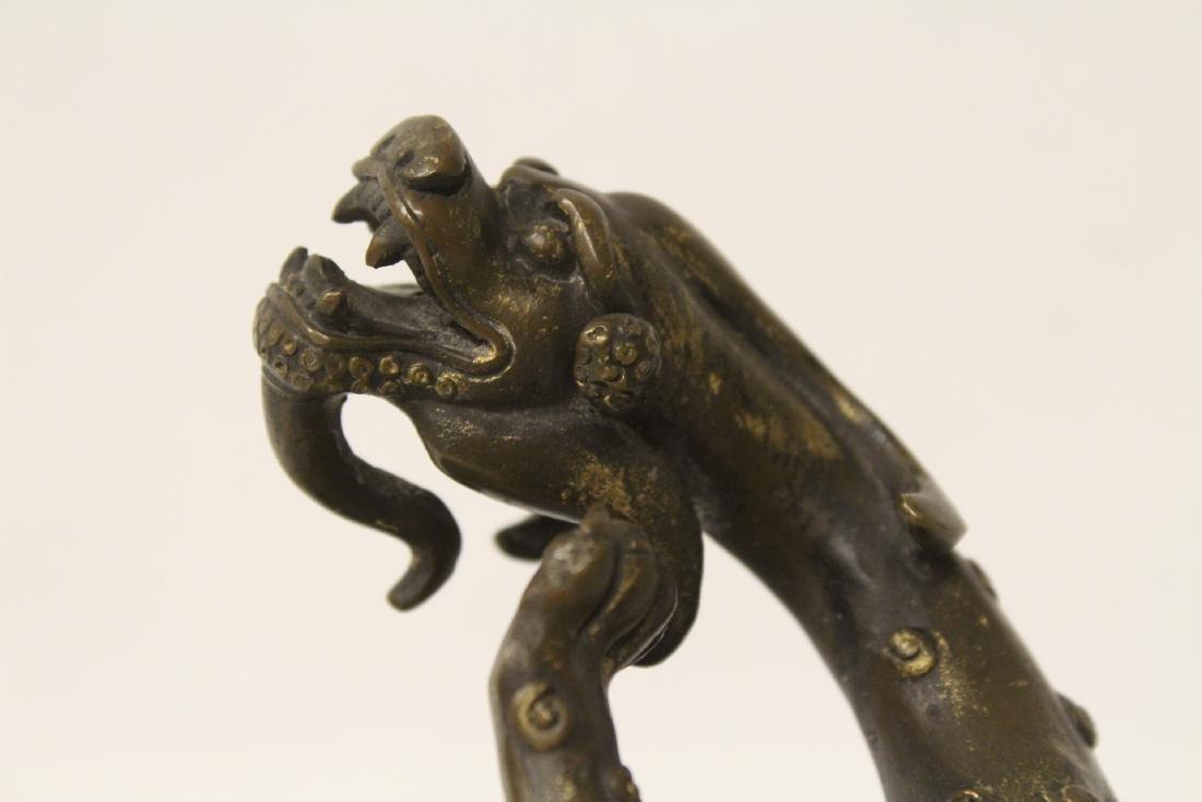 Chinese rare antique bronze sculpture - 5