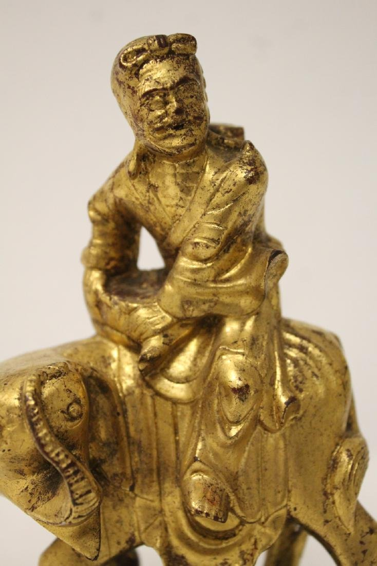 Chinese antique gilt wood sculpture - 10