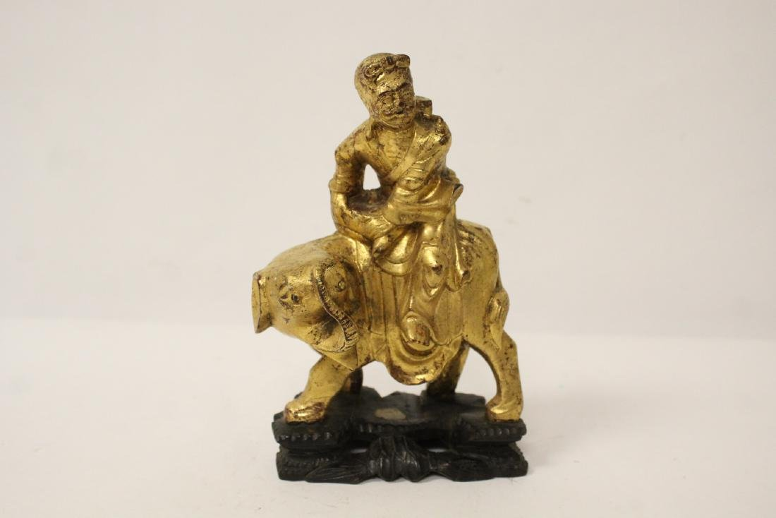 Chinese antique gilt wood sculpture - 2