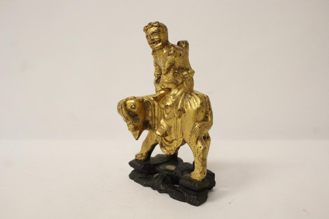 Chinese antique gilt wood sculpture - 4