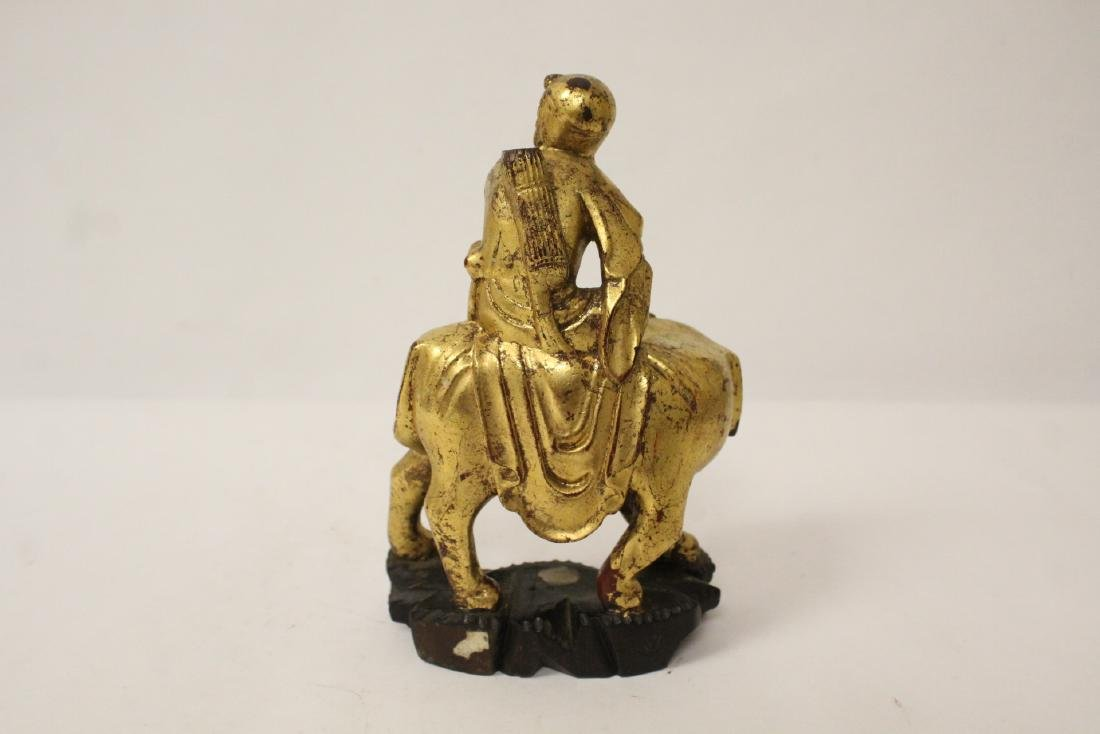Chinese antique gilt wood sculpture - 6