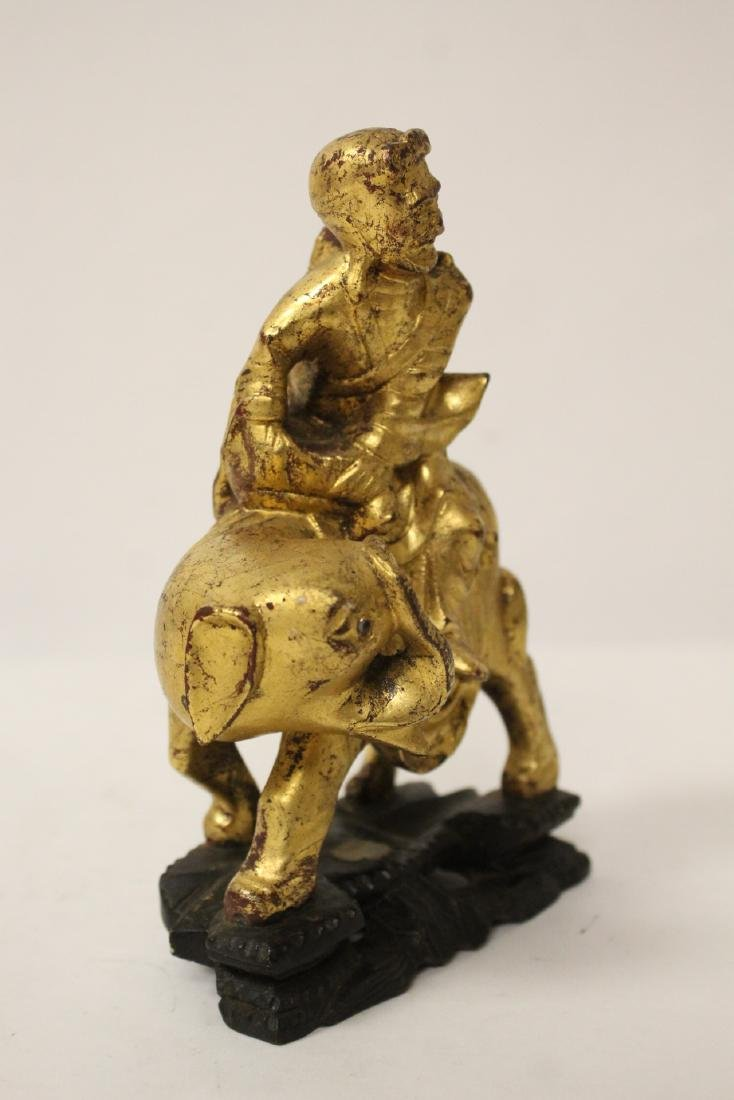 Chinese antique gilt wood sculpture - 8