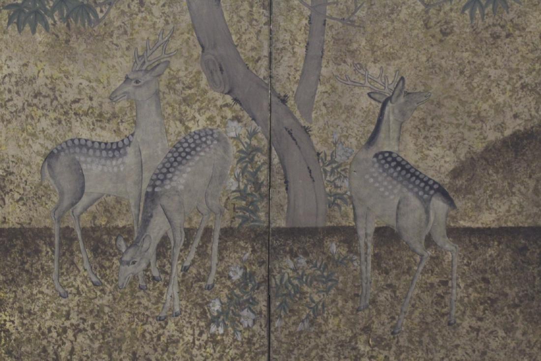 Japanese antique 2-panel room divider - 2