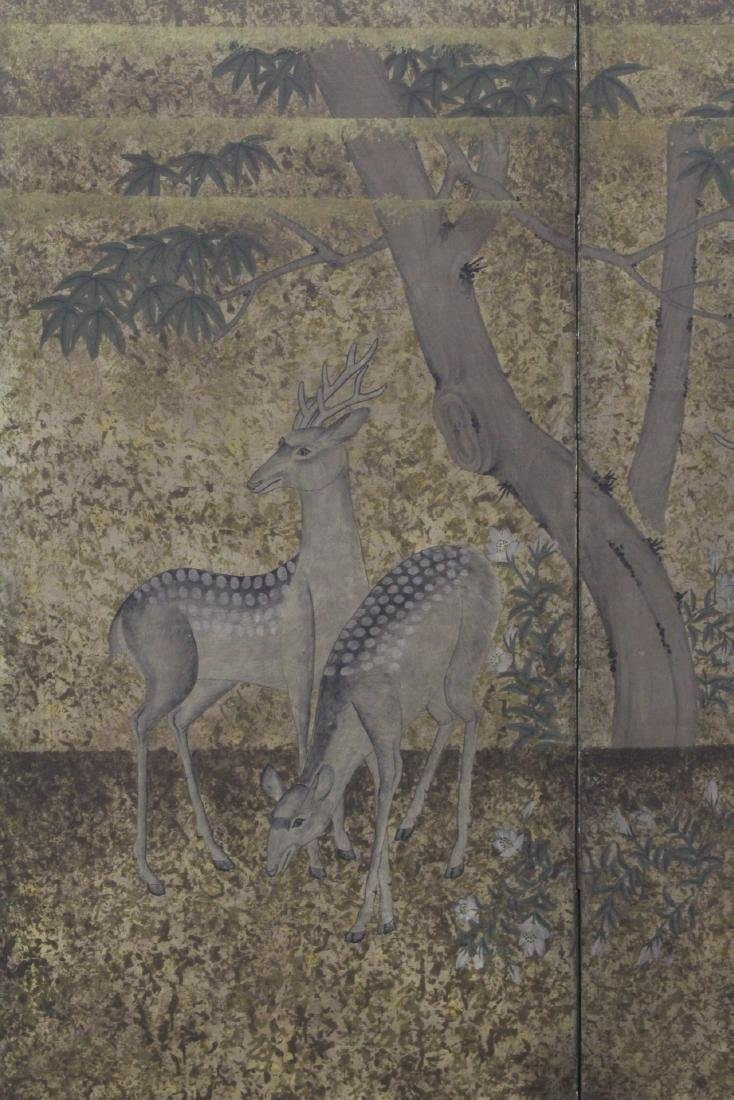 Japanese antique 2-panel room divider - 3