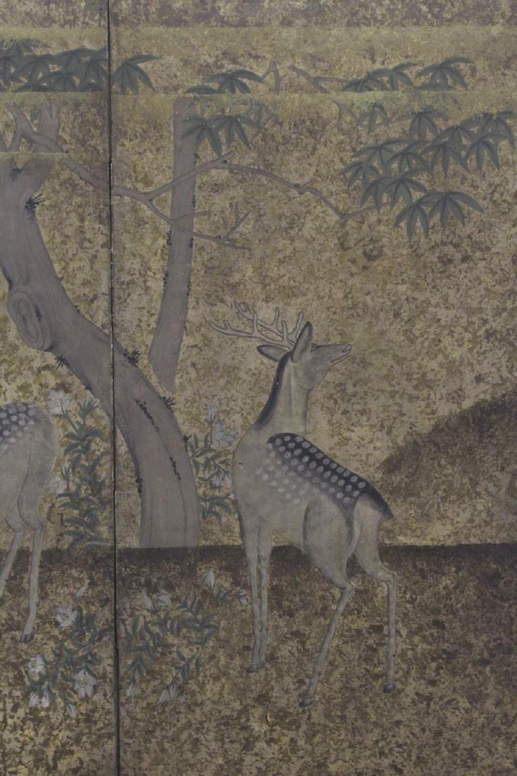 Japanese antique 2-panel room divider - 4