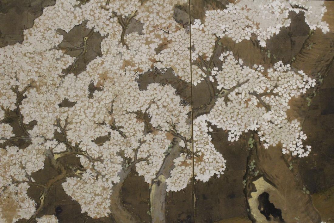 Japanese antique 2-panel room divider - 10