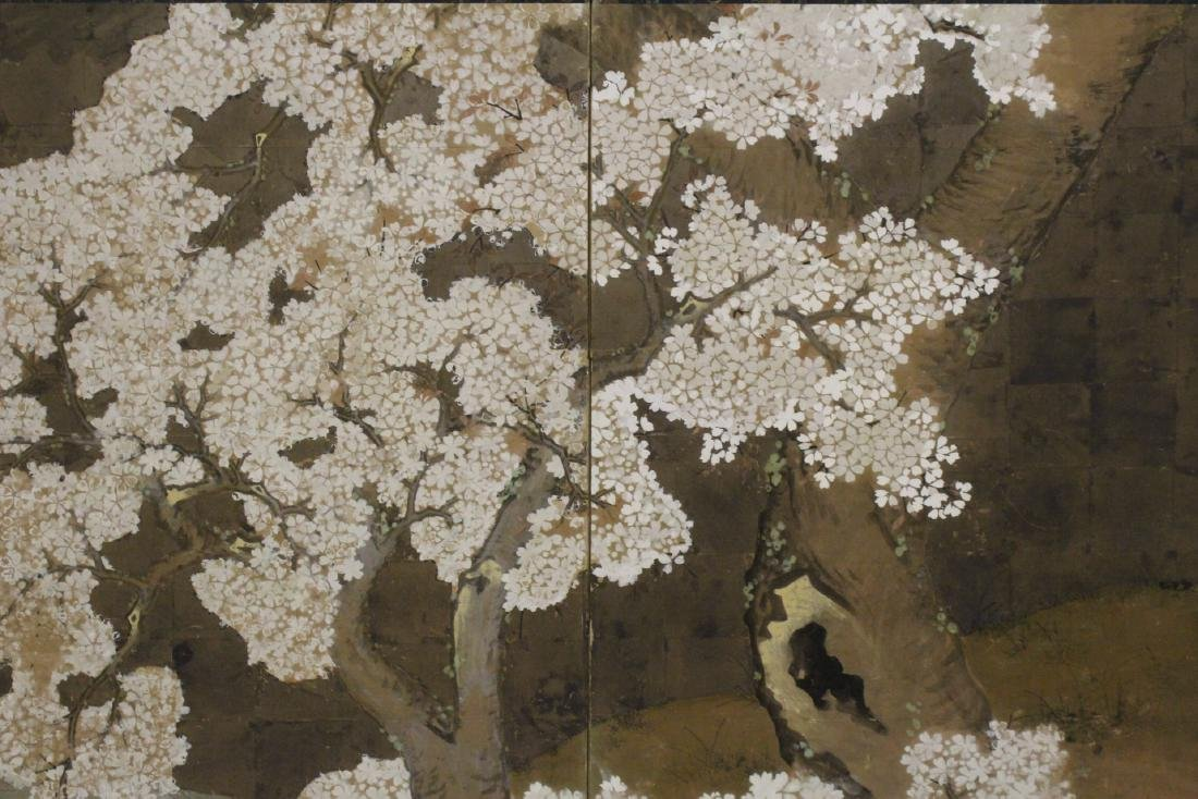 Japanese antique 2-panel room divider - 6