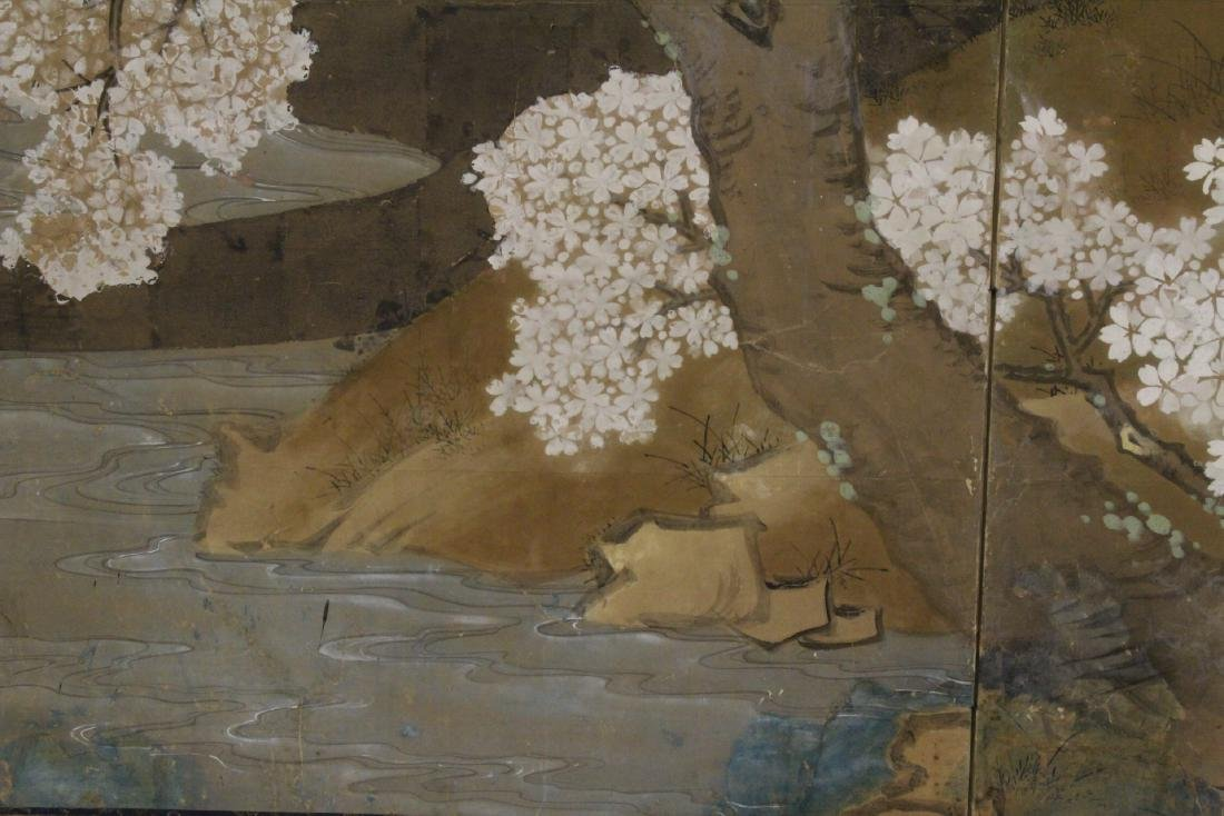Japanese antique 2-panel room divider - 7