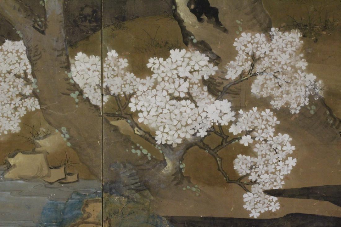 Japanese antique 2-panel room divider - 8