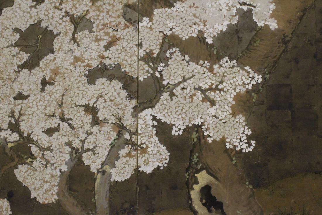 Japanese antique 2-panel room divider - 9