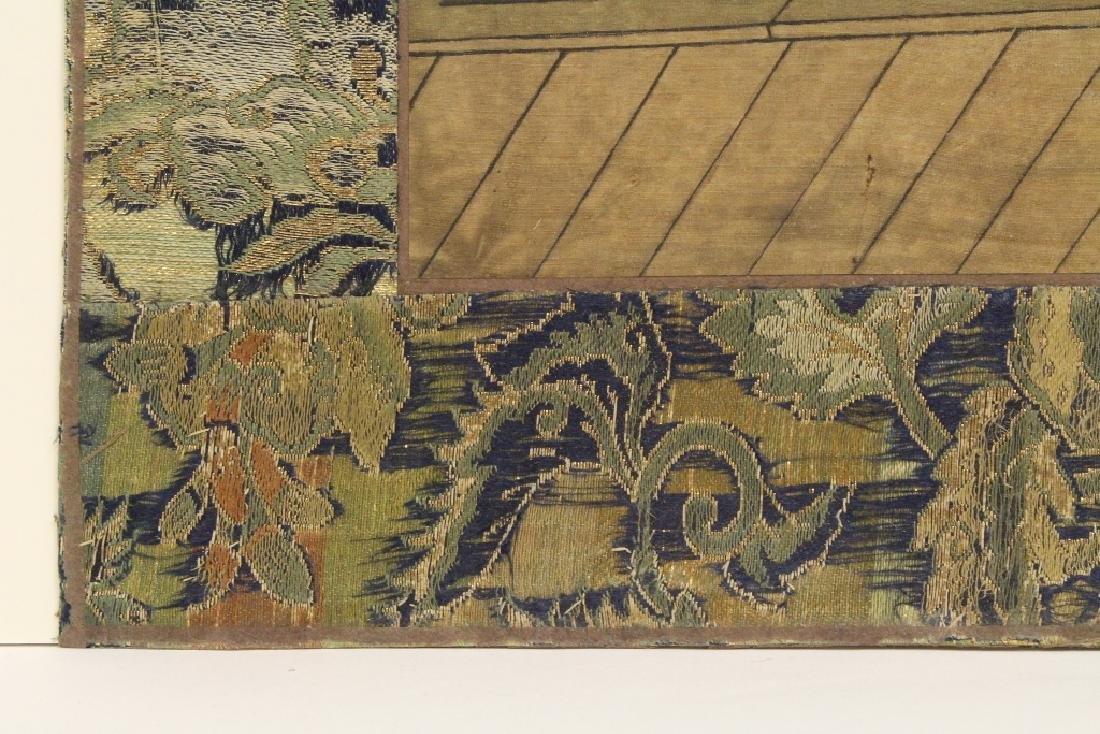 Chinese watercolor panel depicting eagle - 10