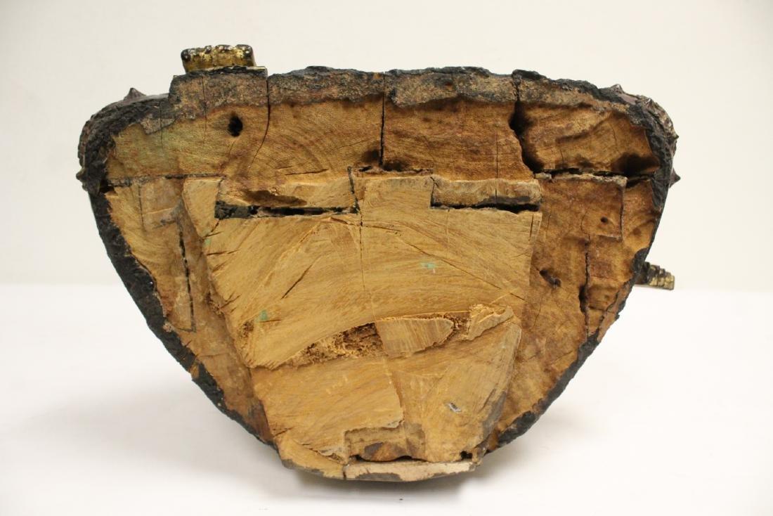 A 17th/18th century Thai gilt wood carving - 10