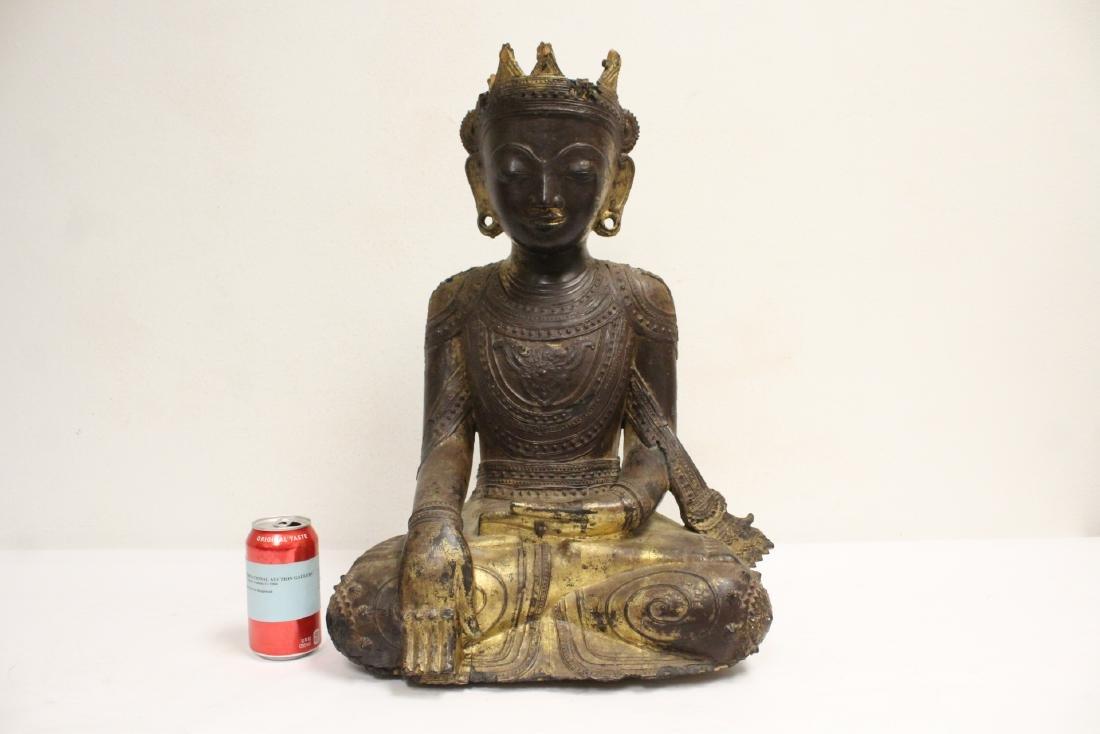 A 17th/18th century Thai gilt wood carving