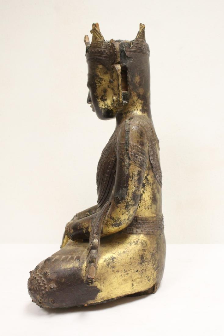 A 17th/18th century Thai gilt wood carving - 2