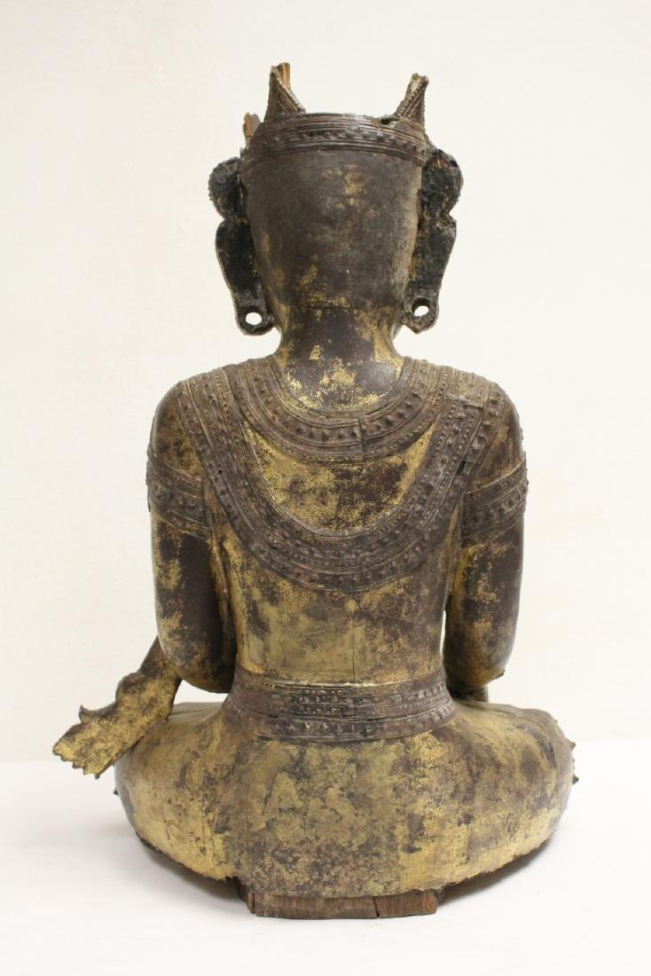A 17th/18th century Thai gilt wood carving - 3