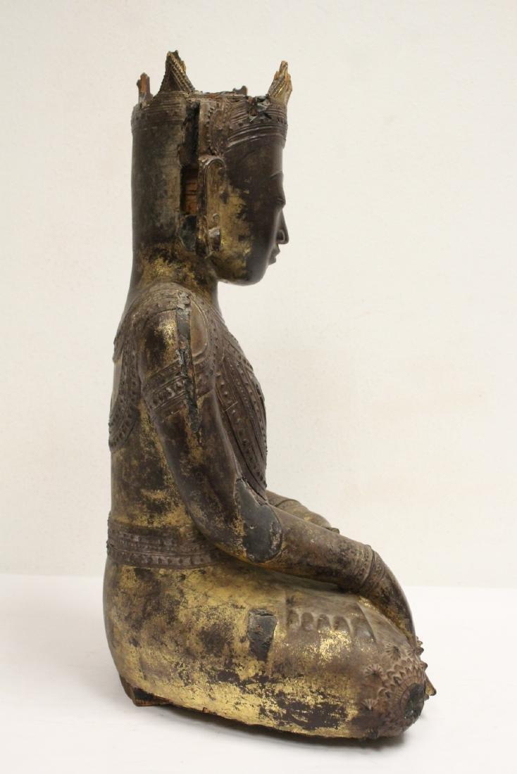 A 17th/18th century Thai gilt wood carving - 4