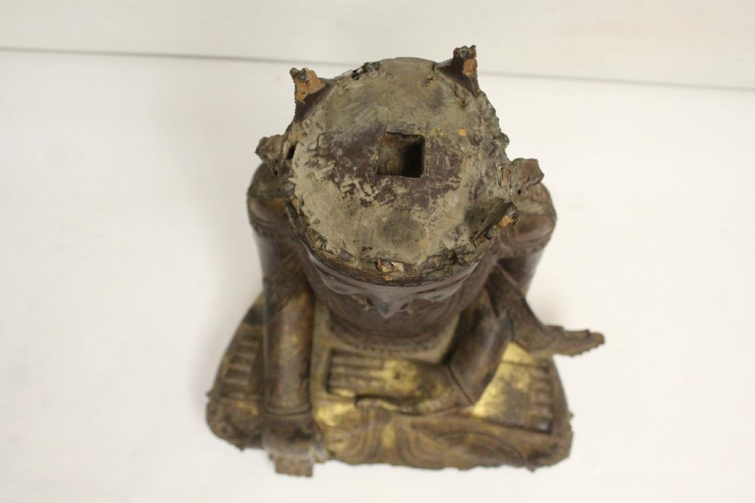 A 17th/18th century Thai gilt wood carving - 5