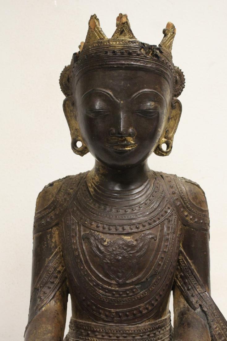 A 17th/18th century Thai gilt wood carving - 6