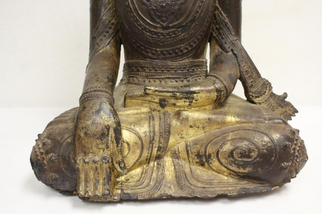 A 17th/18th century Thai gilt wood carving - 7