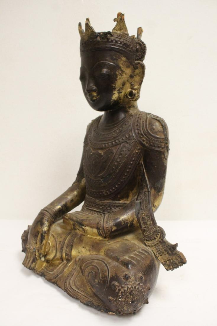 A 17th/18th century Thai gilt wood carving - 8