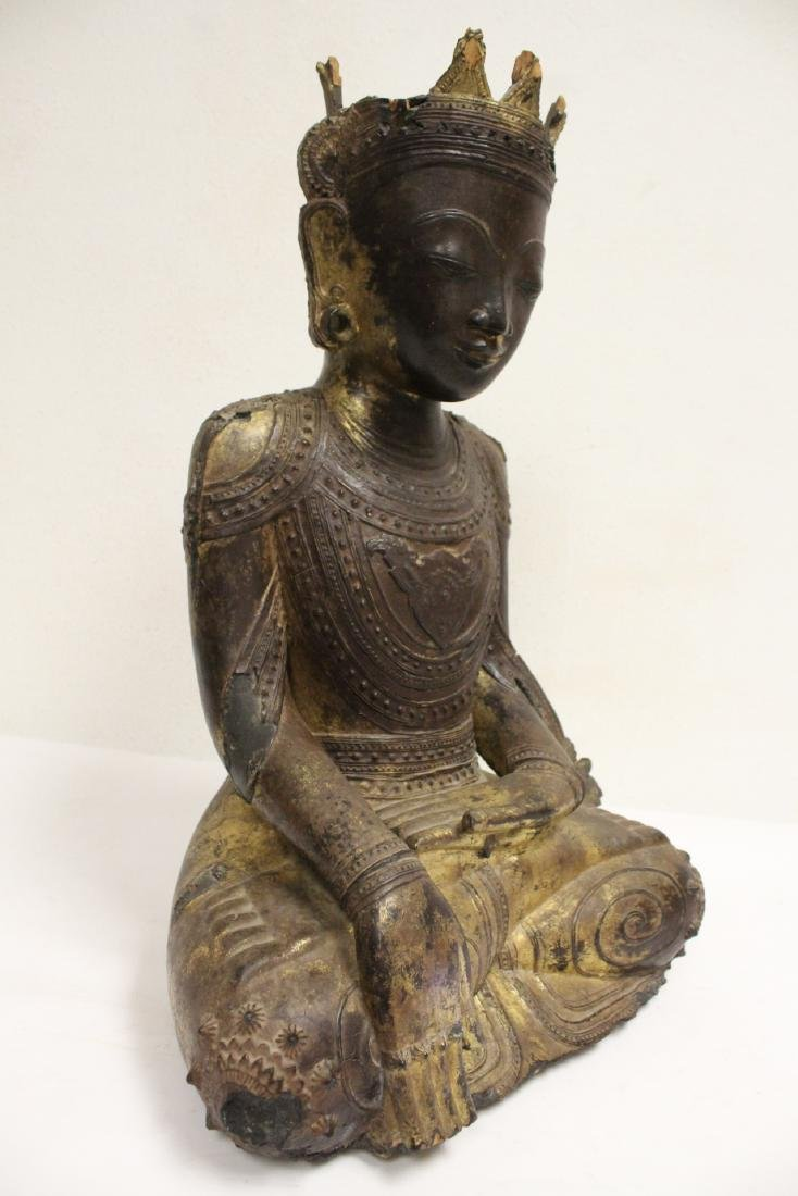 A 17th/18th century Thai gilt wood carving - 9