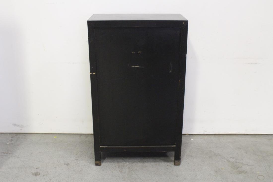 Chinese lacquer cabinet with stone overlay - 7