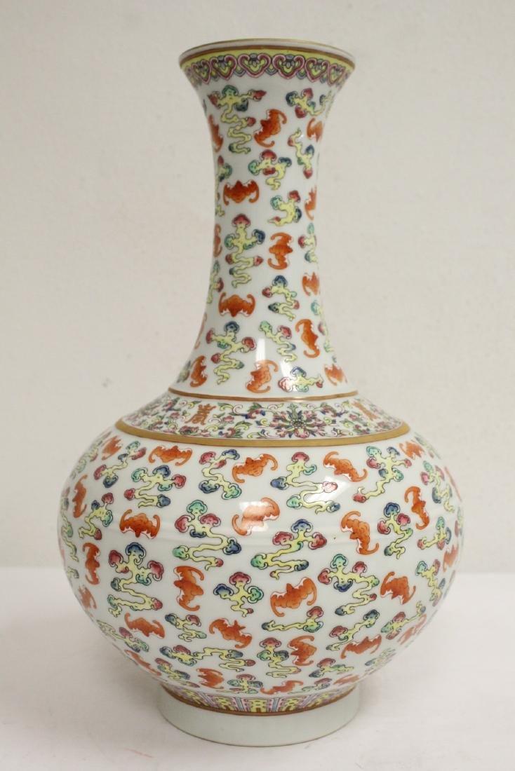 Chinese vintage famille rose porcelain vase - 4