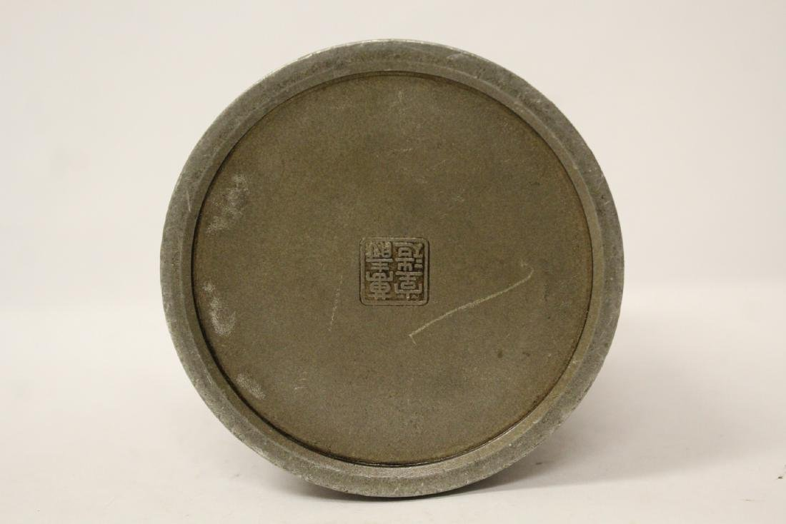 Chinese antique pewter tea caddy - 10