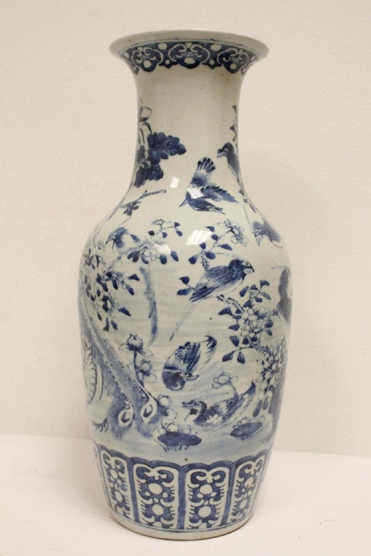 Chinese antique blue and white porcelain vase - 4