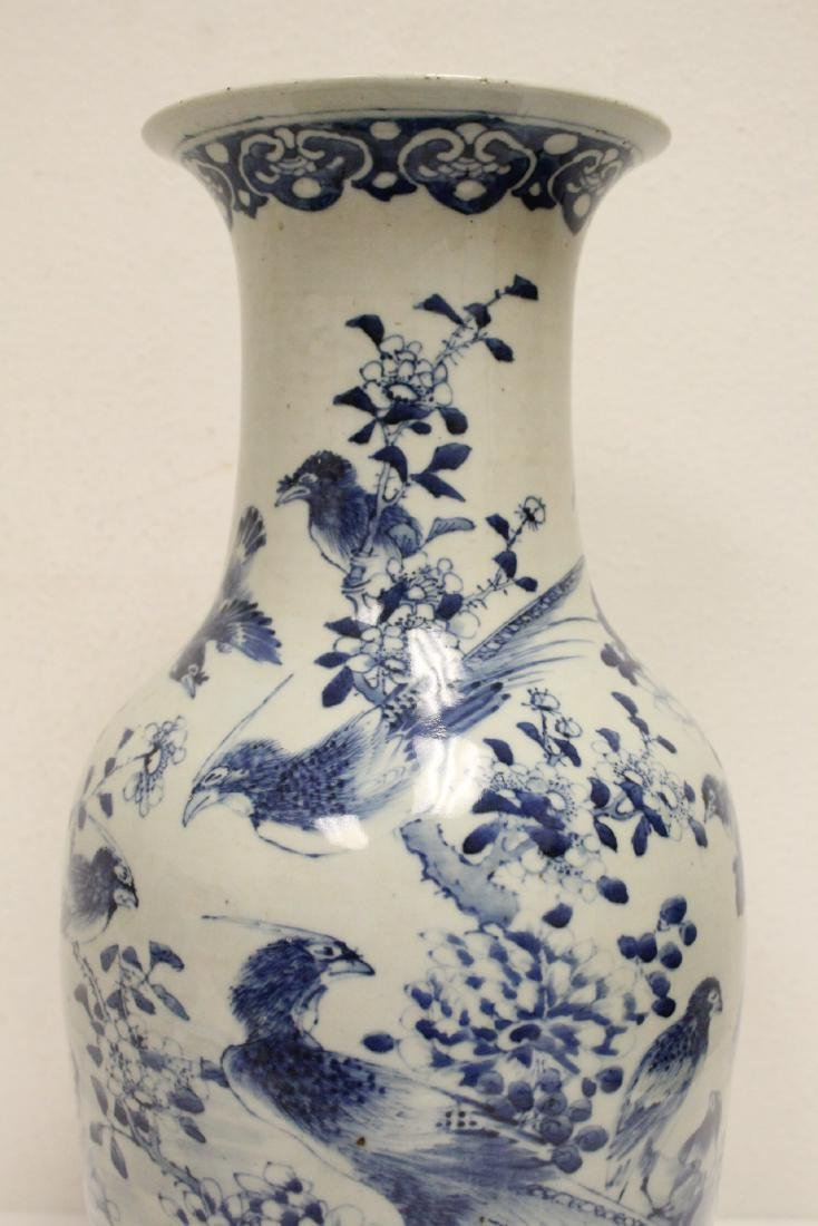 Chinese antique blue and white porcelain vase - 6