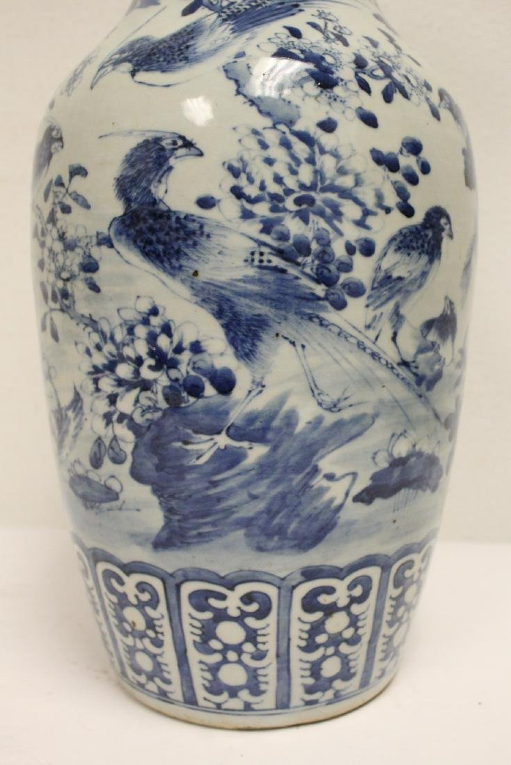 Chinese antique blue and white porcelain vase - 7