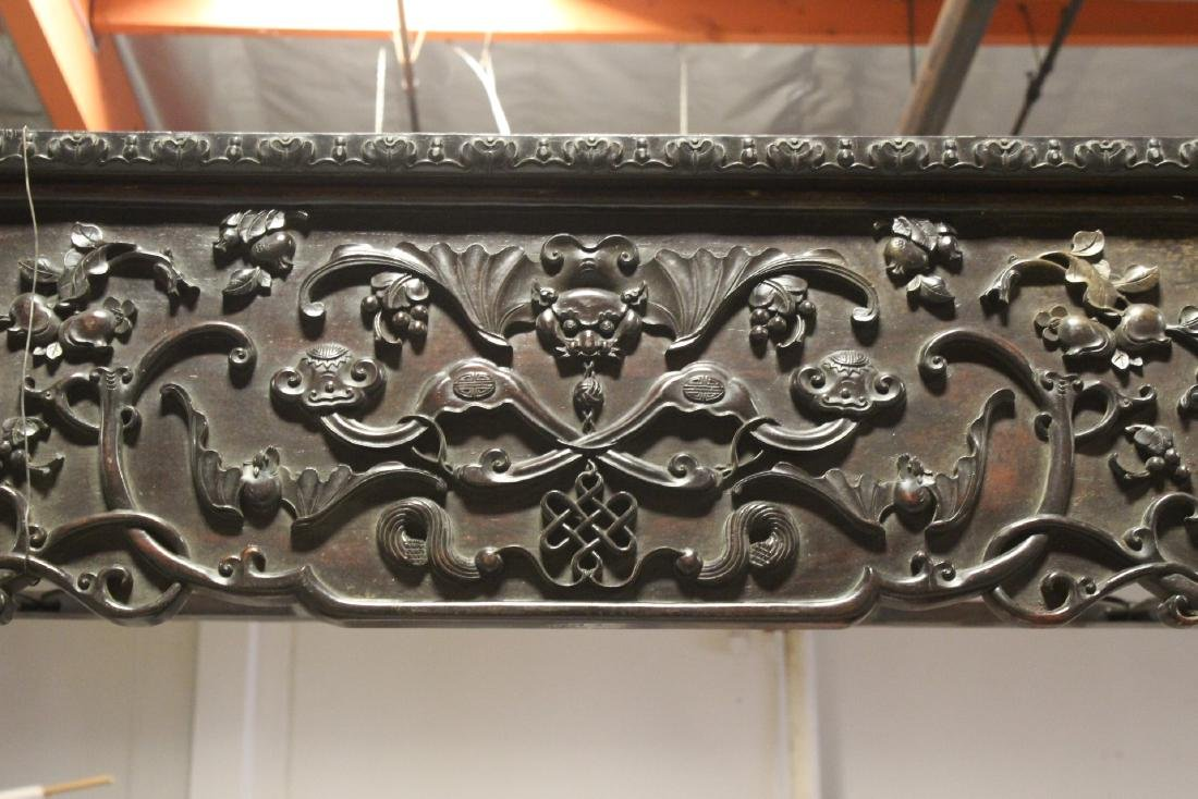 Chinese 18th/19th c. heavy rosewood canopy bed - 6