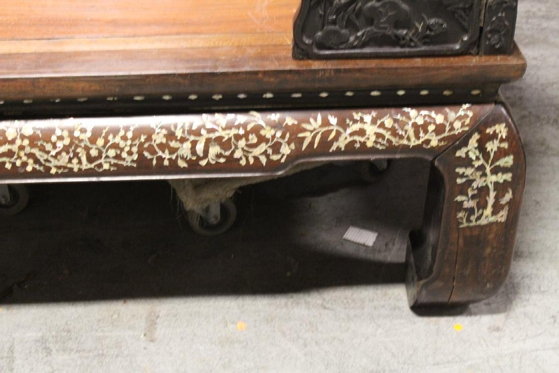 Chinese 18th/19th c. heavy rosewood canopy bed - 8