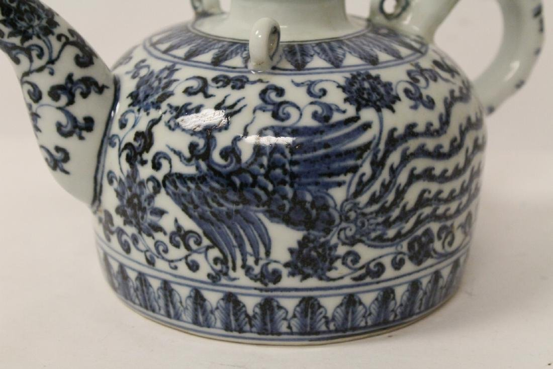 Chinese blue and white porcelain teapot - 8