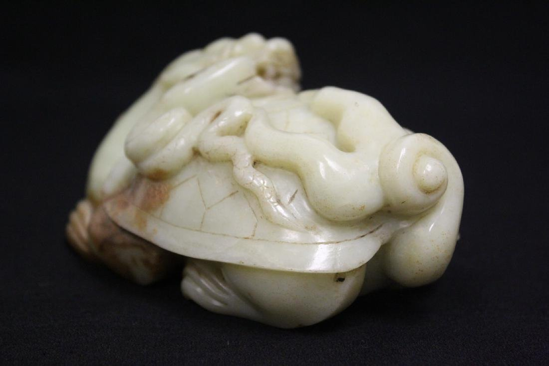 Chinese celadon jade carved qilin - 4