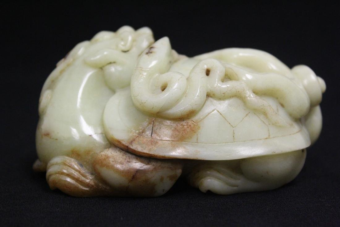 Chinese celadon jade carved qilin - 5